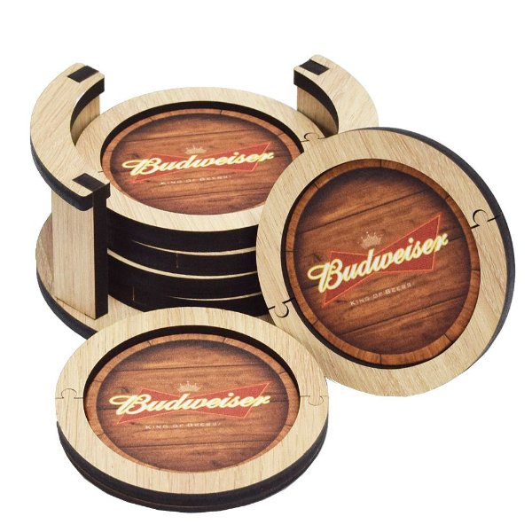 Conjunto de Porta Copos - Budweiser