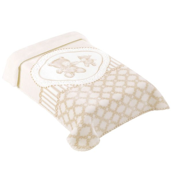Cobertor para Berço Premium Classic Bege - Colibri