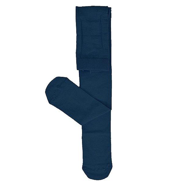 Meia-Calça Lobinha Algodão Fio 80 - Azul Marinho - Lupo
