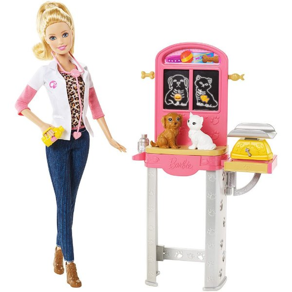 Conjunto Barbie Profissões - Veterinária - Mattel