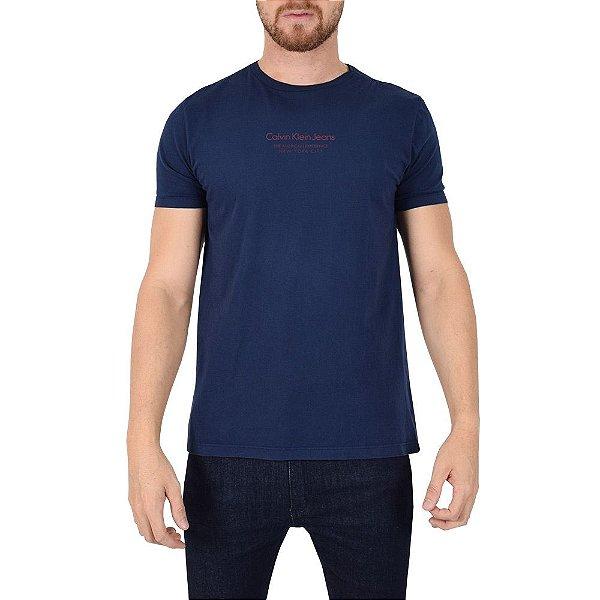 Camiseta Masculina Básica Marinho - Calvin Klein