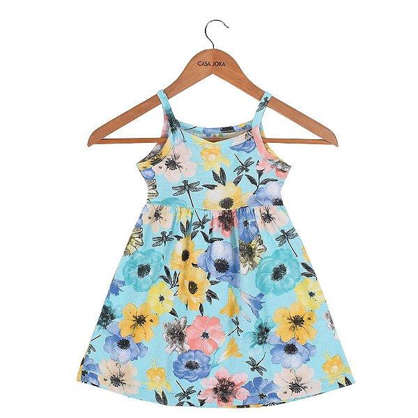 Vestido Infantil de Alças Floral - Brandili