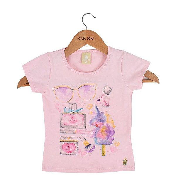 13bf0ff3c1 Blusa Infantil Feminina Fashionista - Rosa - Colorittá - Casa Joka