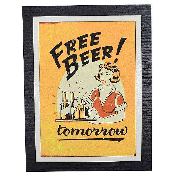 Quadro Decorativo Free Beer Tomorrow - 30 x 23 cm