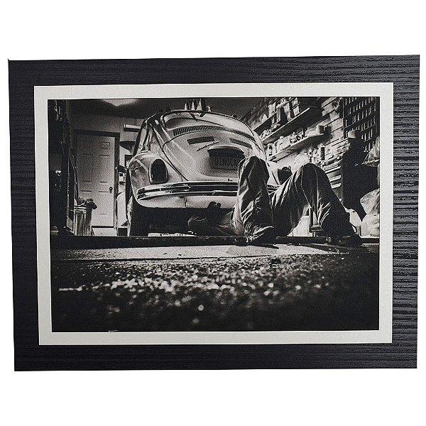 Quadro Decorativo Oficina Fusca - 30 x 23 cm