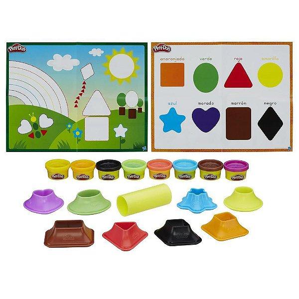 Conjunto Play-Doh Moldar e Aprender - Cores e Formas - Hasbro