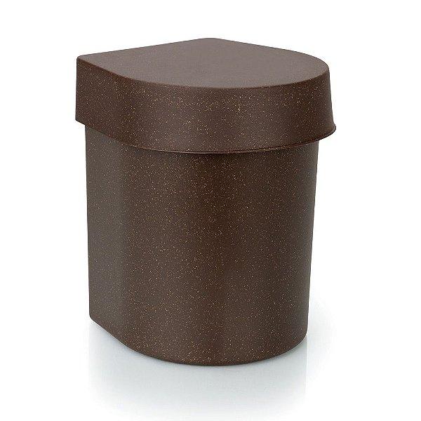Lixeira de Pia Hide Madeira Eco 3,5 Litros
