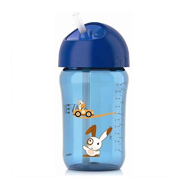 Copo com Canudo - 340 ml - Azul - Philips Avent