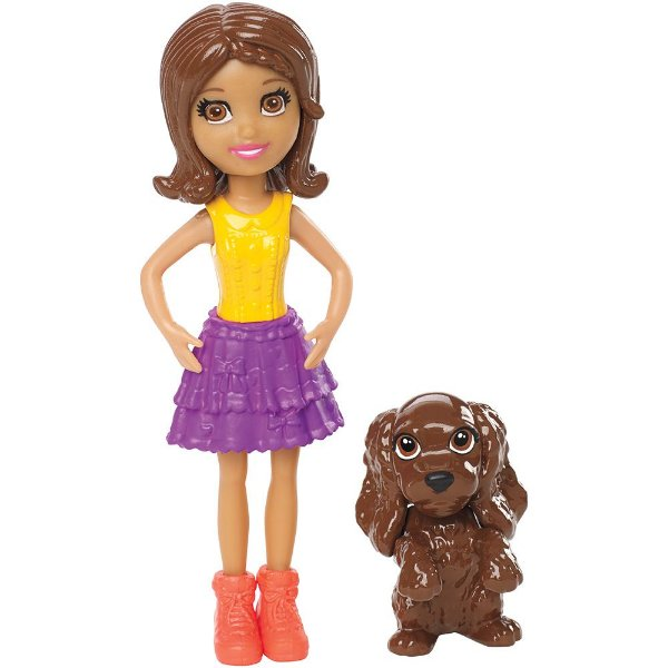 Polly Pocket - Shani com Bichinho - Mattel