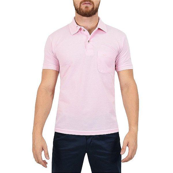 Camisa Polo Masculina Rosa - Wayna