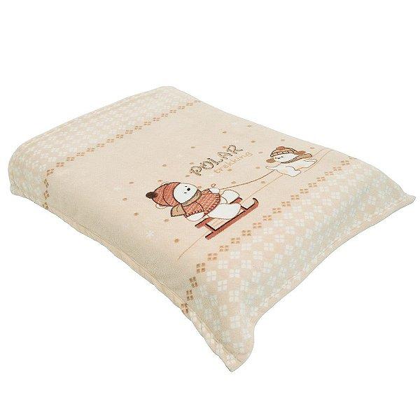 Cobertor para Berço Acalanto Ursinho Polar Bege - Colibri