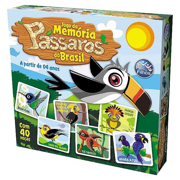 Jogo da Memória Pássaros do Brasil - Pais e Filhos