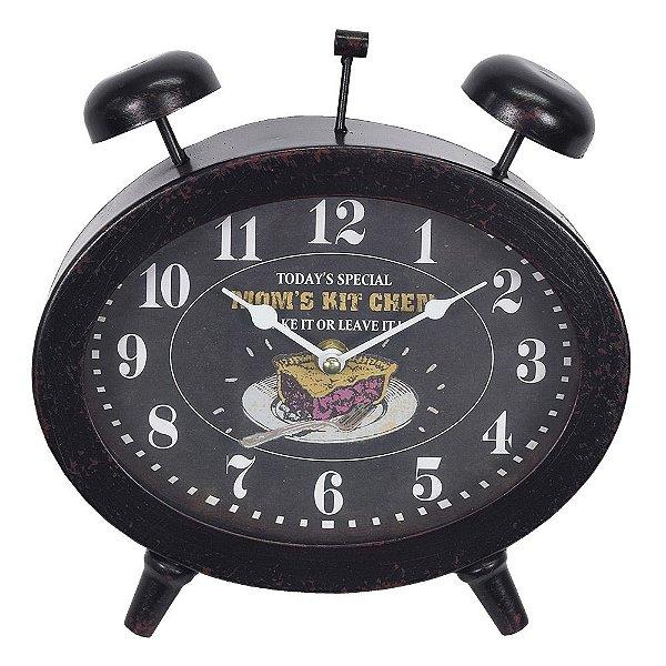 Relógio de Mesa Preto - Mabruk