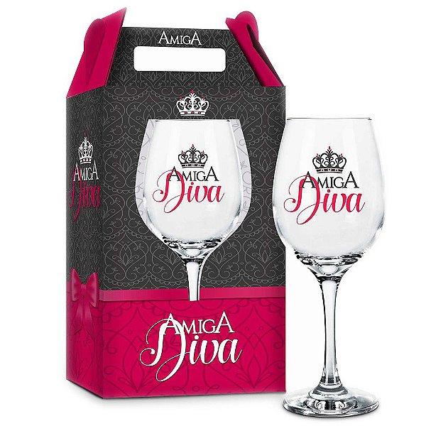 Taça de Vinho Amiga Diva - 385 ml - Brasfoot
