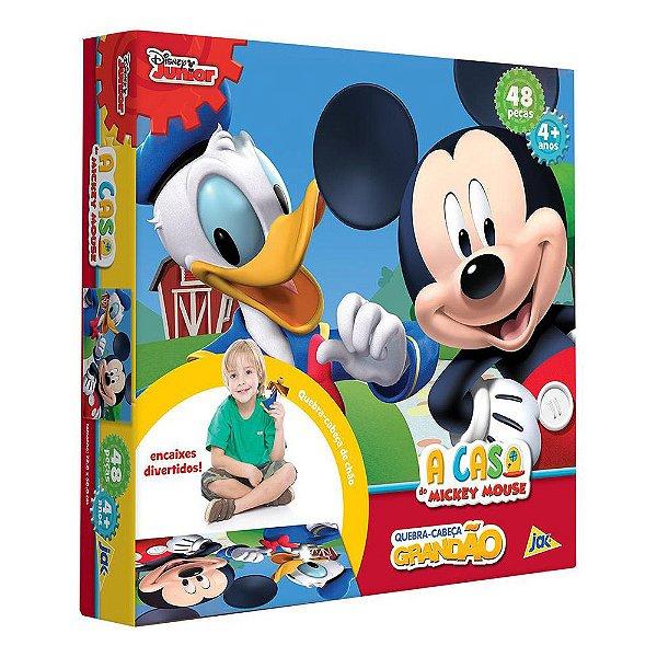 Quebra-Cabeça Grandão Mickey Mouse - 48 peças