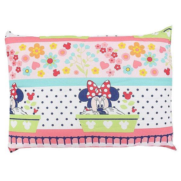 Travesseiro Infantil Disney - Minnie com Flores - Santista