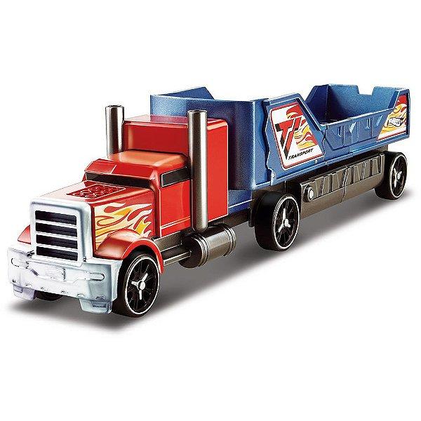 Hot Wheels - Caminhão Batida com Veículo - Vermelho e Azul - Mattel