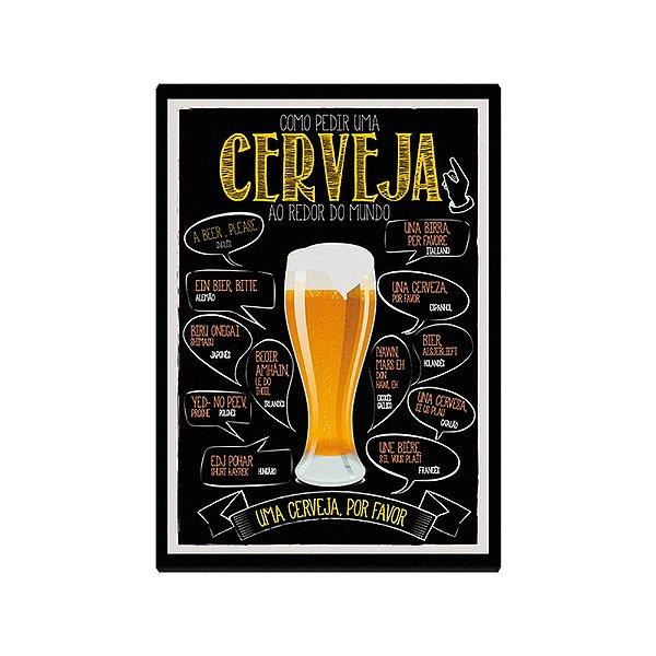 Quadro Decorativo Como Pedir Uma Cerveja - Geguton