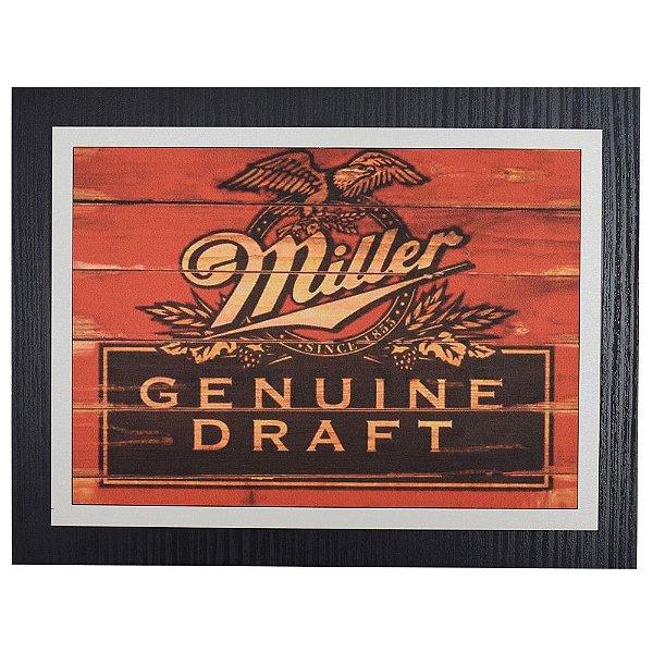 Quadro Decorativo Cerveja Miller Genuine Draft - 30 x 23 cm