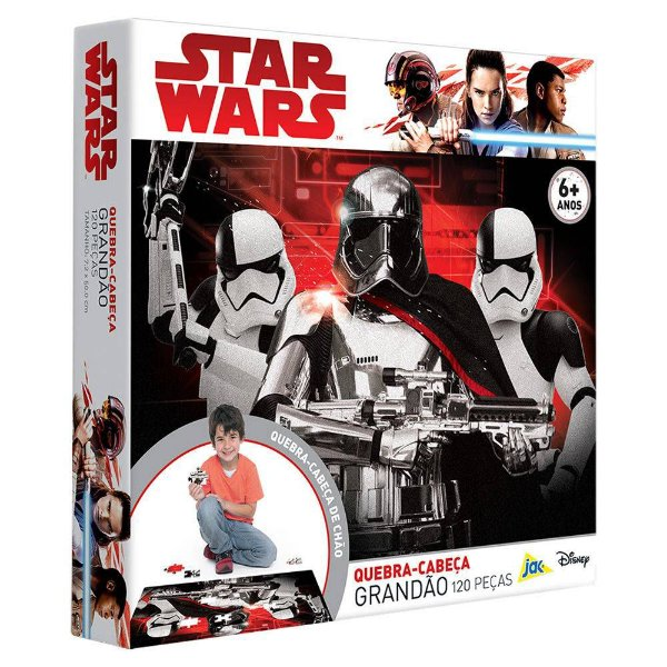 Quebra-Cabeça Grandão Star Wars - 120 Peças - Toyster