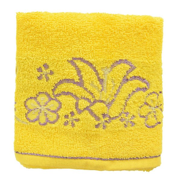 Toalha de Rosto Allegra Carmele - Amarelo - Karsten