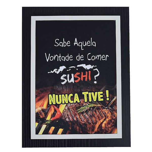 Quadro Decorativo Sushi - 30 x 23 cm
