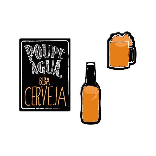 Super Ímãs Cerveja - 3 Peças - Geguton