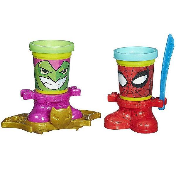 Conjunto Playdoh Homem Aranha e Duende Verde
