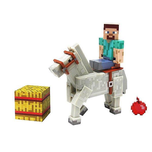 Minecraft Steve com Cavalo - Multikids