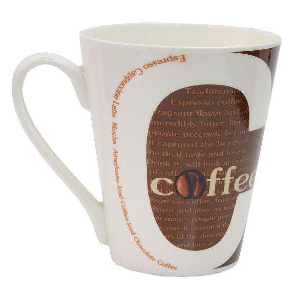 Caneca Coffee Marrom - Casa e Ambiente