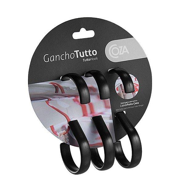 Conjunto de Ganchos Tutto Preto - 3 peças - Coza