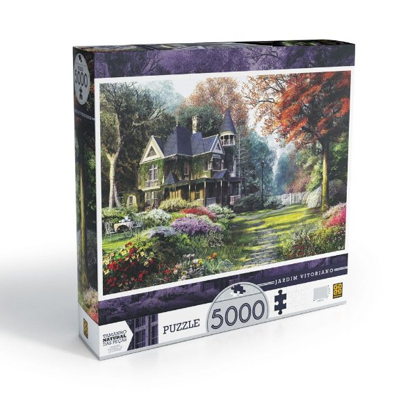 Quebra-Cabeça Jardim Vitoriano - 5000 Peças - Grow