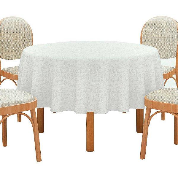 Toalha de Mesa Neo Clássico - 1,60m - Branco