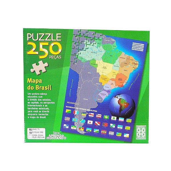 Quebra Cabeça - 250 Peças - Mapa do Brasil