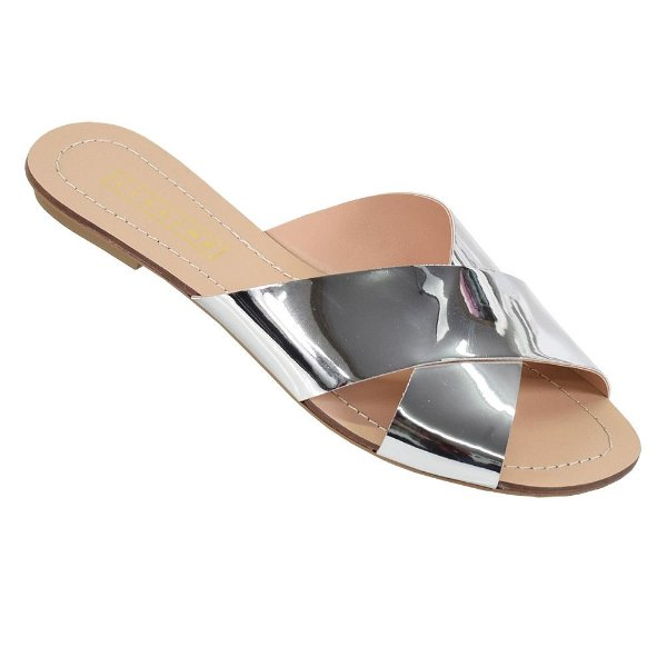 Sandália Rasteira Glamour - Lia Line