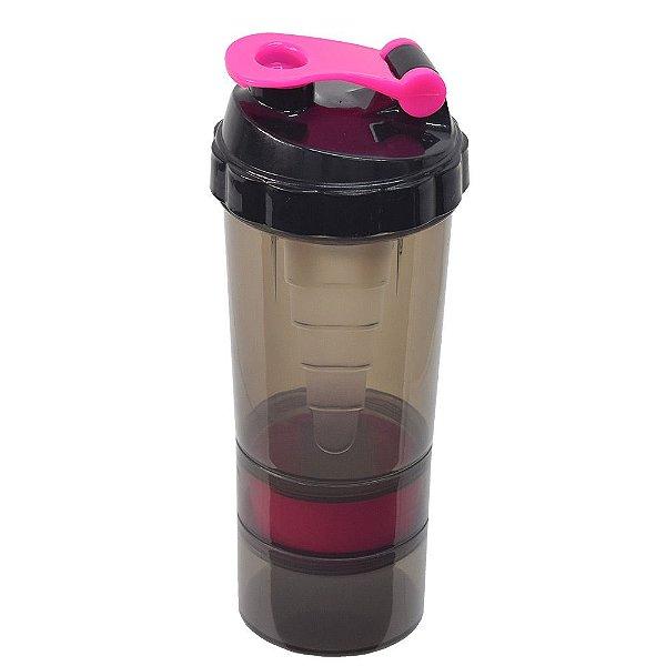 Coqueteleira 4 Compartimentos - Pink - 500ml