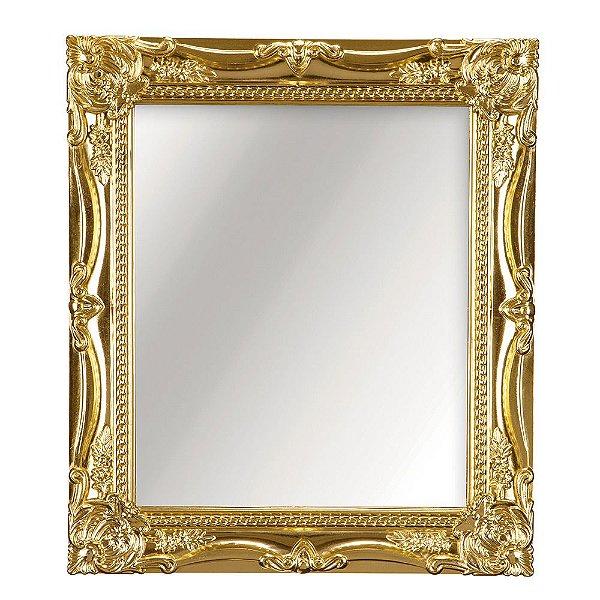 Espelho Decorativo de Parede Dourado 20 x 25 cm - Mart