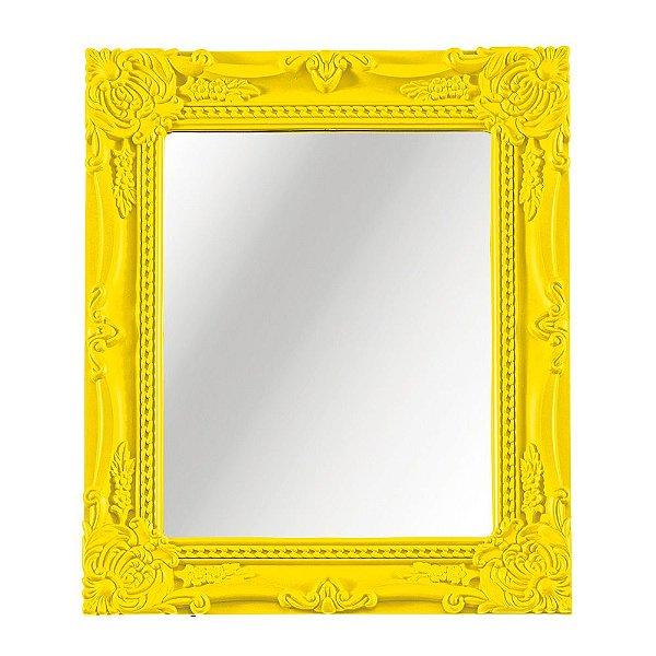 Espelho Decorativo de Parede Amarelo 20 x 25 cm - Mart