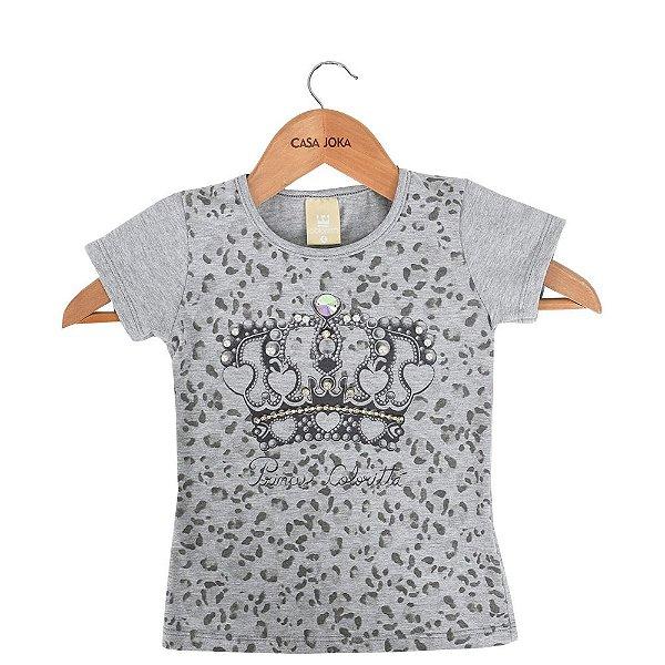 57f5421577 Blusa Infantil Feminina Coroa com Pedras - Cinza - Colorittá - Casa Joka