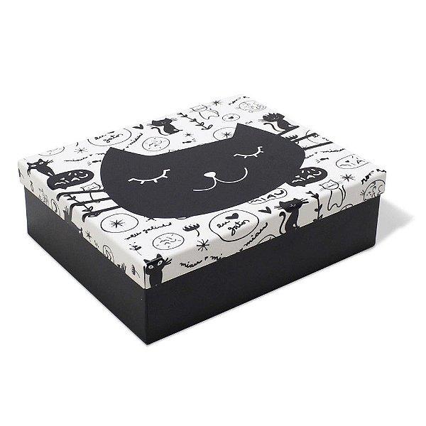 Caixa Organizadora - Gato Preto - Geguton