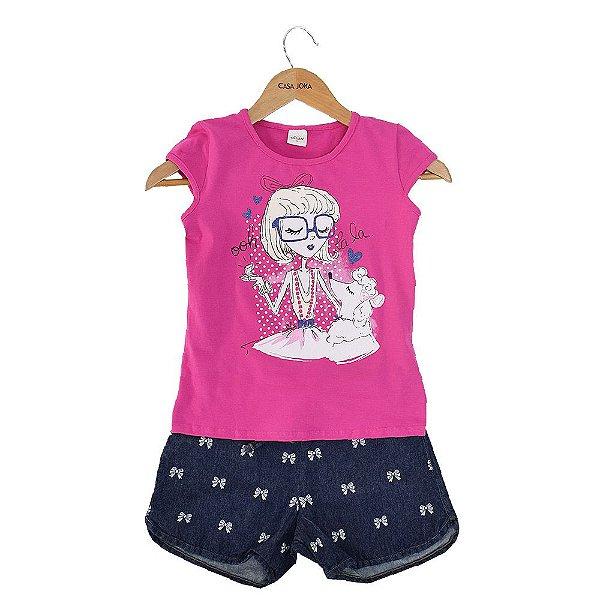Conjunto Infantil Feminino - Menina Fashion - Elian
