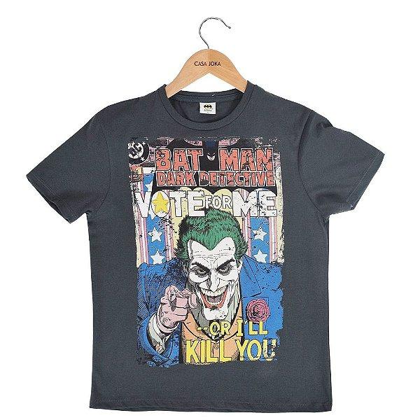 Camiseta Infantil Masculina Batman Dark Detective - Fakini