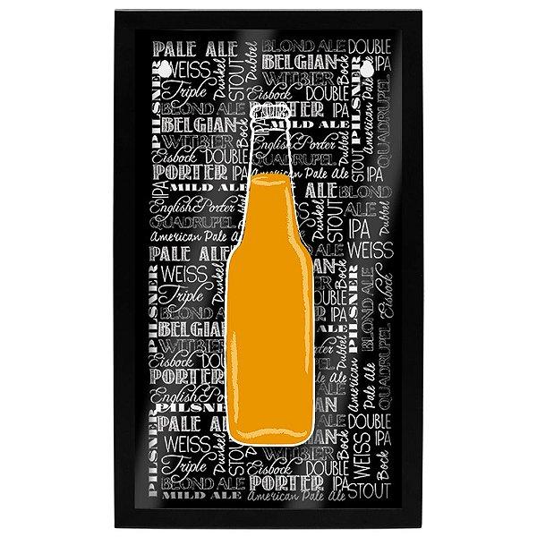 Quadro Porta Tampinhas - Garrafa de Cerveja - Geguton