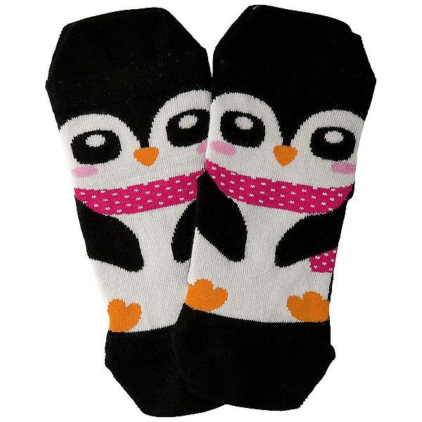 Meia Infantil Feminina Pinguim Preta - Lupo
