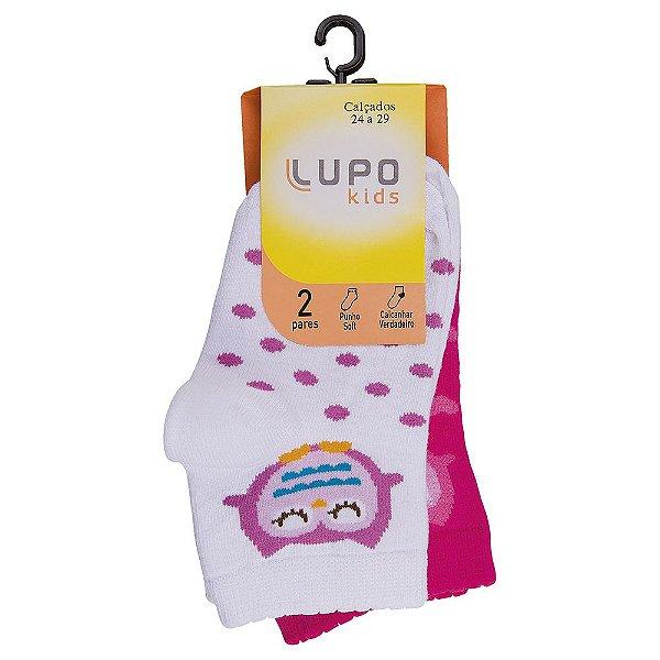 Kit de Meias Infantil Feminina - 2 Peças - Corujinha - Lupo