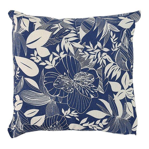Almofada Ômega Floral Azul - Decoração & Cia