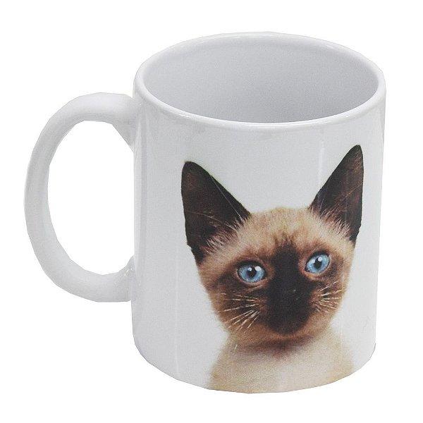 Caneca de Cerâmica - Eu amo meu Gato Siamês - Vikos