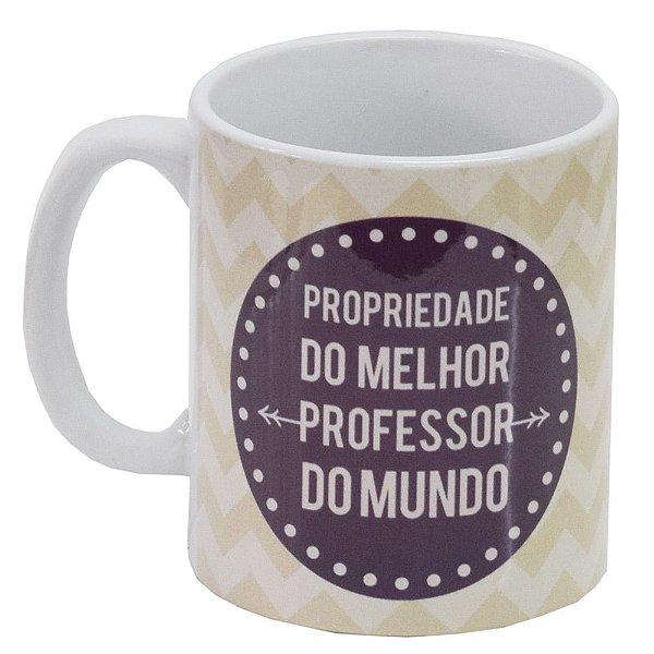 Caneca de Cerâmica - Propriedade do Melhor Professor - Vikos