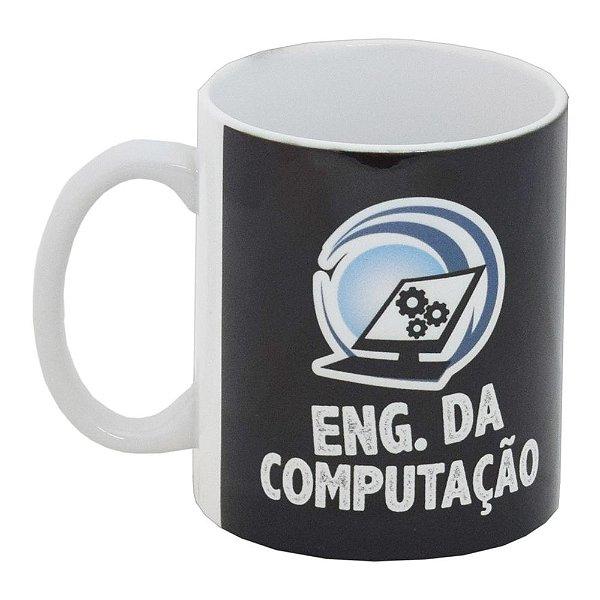 Caneca Profissão Preta 300ml - Engenharia da Computação - Vikos