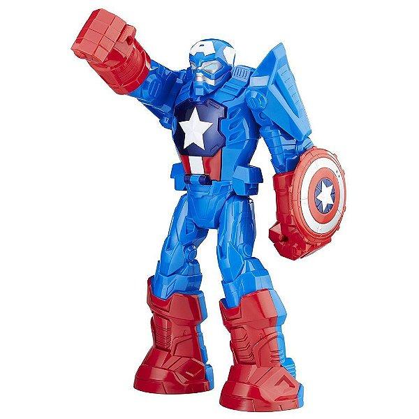 Boneco Capitão América - Armadura - Marvel Super Hero Adventures - Hasbro